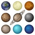 Solar System Planets And Moon,...