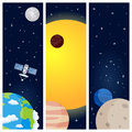 Solar System Planets Vertical Banners Royalty Free Stock Photo