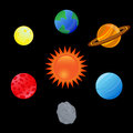 Solar system set of astronomy objects and planets Royalty Free Stock Photos