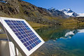 Solar technology in the alps Royalty Free Stock Photography