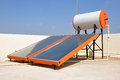 Solar water heater in bangalore india Stock Image