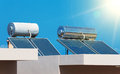 Solar water heating system. Royalty Free Stock Photo