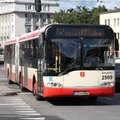 Solaris city bus gdansk poland september articulated in gdansk poland since the founding in the output of buses has been on the Royalty Free Stock Image
