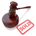 Sold auction in the design of information related to trade Royalty Free Stock Images