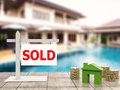 Sold house sign Royalty Free Stock Photo
