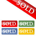 Sold icons Royalty Free Stock Image