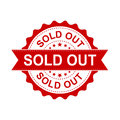 Sold out grunge rubber stamp. Vector illustration on white backg Royalty Free Stock Photo