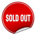 Sold out round red sticker