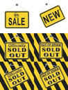 Sold Out Sign Royalty Free Stock Photo