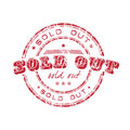 Sold out stamp Royalty Free Stock Photo