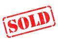 Sold on Red Rubber Stamp. Royalty Free Stock Photo