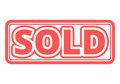 Sold red square sticker