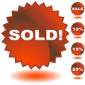 Sold Seal Signs Royalty Free Stock Photo