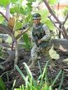 Soldado action figure Fotografía de archivo