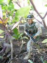 Soldat action figure Royaltyfria Bilder