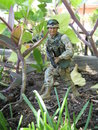 Soldat action figure Arkivbild