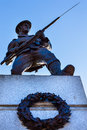 Soldat canadien statue legislative building victoria canada Images libres de droits