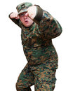 Soldat i enhetlig kamouflage Royaltyfri Fotografi