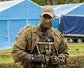 Soldat i kamouflage Royaltyfri Fotografi