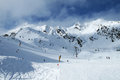 Solden austria mountains ski resort downhill course Stock Photography