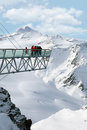 Solden austria mountains ski resort view Stock Photo
