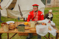 Solder eat his food th regiment of foot celebration of the centuries took place on the th th august at fort george inverness Royalty Free Stock Images