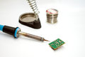 Soldering equipment close up on white background Royalty Free Stock Image