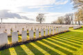 Soldier cemetery world war one flanders belgium a Stock Image