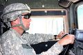 A soldier driving Royalty Free Stock Photo