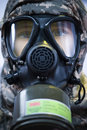 Soldier with gas mask Royalty Free Stock Photography