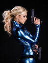 Soldier girl Stock Image