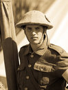 Soldier of the Great War Royalty Free Stock Images