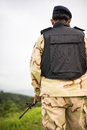 Soldier guardian Royalty Free Stock Photo