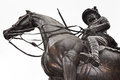Soldier hero on horseback Royalty Free Stock Photo