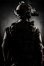 Soldier man back style fashion the Royalty Free Stock Photo