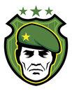 Soldier mascot vector of head suitable as a Stock Images
