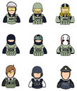 Soldier and police icon collection set 2