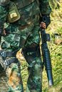Soldier ready for war combat Royalty Free Stock Photo