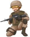 Soldier With Rifle Gun