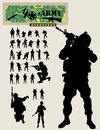 Soldier Silhouettes Royalty Free Stock Photo