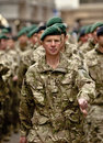 Soldiers from 3 Commando Brigade marching Royalty Free Stock Photo