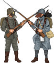Soldiers from First World War Royalty Free Stock Photo