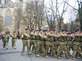 Soldiers on parade in York, England Royalty Free Stock Photos