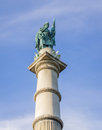 Soldiers and sailors monument in boston commons is a large green area the center of is to bostonians Royalty Free Stock Photos