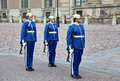 Soldiers in stockholm sweden square Royalty Free Stock Photos