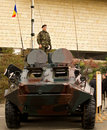 Soldiers on a TAB Armored Personnel Carrier Stock Images