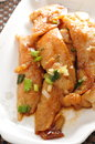 Sole fillet stir fried fish Stock Photo