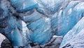 Solheimajokull glacier near Skaftafell in Iceland Royalty Free Stock Photo