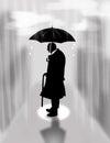 image photo : Loneliness, rain