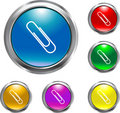Solid Paper Clip Button Stock Photography